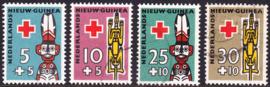 NVPH  49-52  Rode Kruiszegels gestempeld