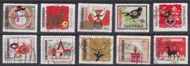 NVPH 2887-2896 ''Kerstzegels'' 2011  Gestempeld cataloguswaarde 2,00 A-0784
