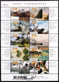 NVPH V2089-2098 Kunst en Landschappen  2002  Gestempeld cataloguswaarde 10,00 A-0325