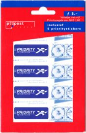NVPH 1748 Hangzakje TYPE 2 met extra tekst '' incusief 5 prioritystickers''Postfris
