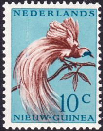 Plaatfout Ned. Nieuw Guinea 27 P  Postfris