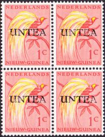 Ned. Nieuw Guinea / UNTEA  Opdrukafwijking UNafw PM5  op de 1 CT Postfris