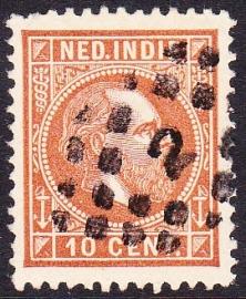 NVPH 9 Koning Willem 3 Gebruikt Cataloguswaarde: 0,50 E-1022