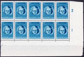 Plaatfout  448 PM5 + PM7 in blok van 10 Postfris  Cataloguswaarde 14.00  +++