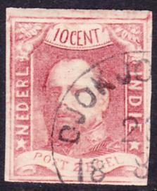 NVPH 1 Koning Willem 3 Gebruikt Cataloguswaarde: 125,00