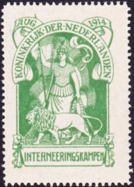 Internering IN1 origineel Postfris positie 15 Cataloguswaarde 400.00