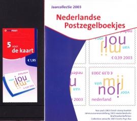 Jaargang 2003 POSTZEGELBOEKJES Compleet GESTEMPELD in originele verpakking