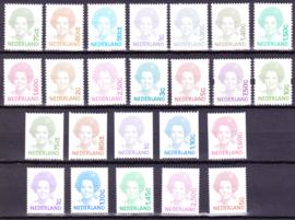 Complete set Beatrix  inversie inc rolzegels en zelfklevers Postfris
