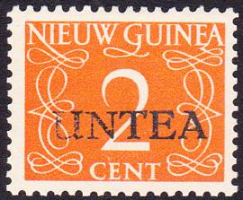 Plaatfout Ned. Nieuw Guinea 2 PM1 op UNTEA 2 Postfris