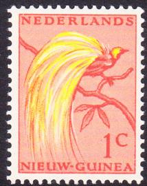 Plaatfout Ned. Nieuw Guinea 25 PM Postfris