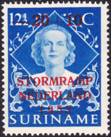 Suriname Plaatfout 296 P  postfris  Cataloguswaarde 35,00