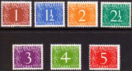 NVPH  211-217 Cijferzegels van Krimpen Postfris cataloguswaarde: 4.30