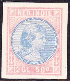 Nederlands-Indië  Proef van de NVPH 30 Prinses Wilhelmina 2,50 gulden