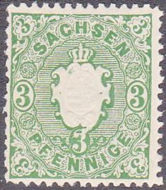 Sachsen Mi: 14a  Postfris / MNH  E-7960