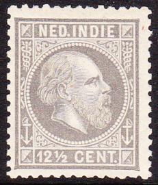 NVPH 10H Koning Willem III Ongebruikt cataloguswaarde: 12,00