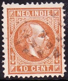NVPH 9 Koning Willem 3 Gebruikt Cataloguswaarde: 0,50 E-1222