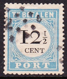Port P8 Cijfer en waarde in zwart gebruikt cataloguswaarde 35.00 E-3327