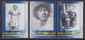 NVPH  411-413  Rembrandt Internationale Cultuur) 2008 Postfris  A-0886