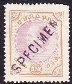 Curacao NVPH 12  met opdruk SPECIMEN cataloguswaarde 220,00
