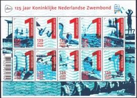 NVPH V3079-3088 125 jaar Kon. Ned. Zwembond Postfris  A-0498