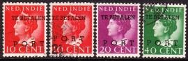 NVPH P49-P52 Hulpportzegels Gebruikt cataloguswaarde: 67.50  E-2049