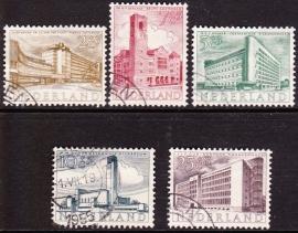NVPH  655-659 Zomerzegels 1955 Moderne architectuur Gebruikt  CW 17.30  E-2162