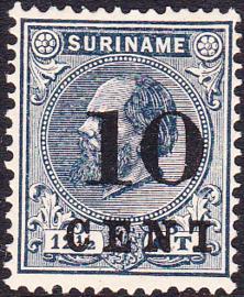 Plaatfout Suriname 29f PM   gebruikt