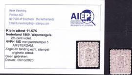 NVPH   18D  Wapenzegel gebruikt Cataloguswaarde 90.00