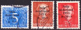 NVPH 22-24  Watersnoodzegels gestempeld