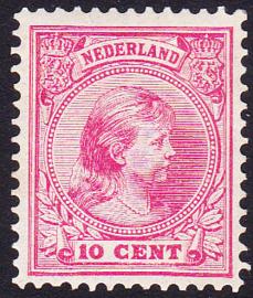 NVPH   37  Prinses Wilhelmina Ongebruikt  cataloguswaarde 45.00