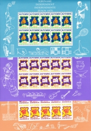 ZNB 4-6 Siervellen onafhankelijkheid Suriname Cataloguswaarde 50,00  BK-SP1