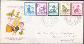 FDC E4  ''Kinderzegels 1950''  geschreven adres met dichte klep