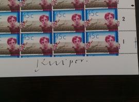 NVPH 1166 Compleet postfris vel met Handtekening ontwerper: Jan Kuiper