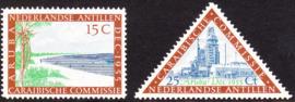 NVPH  255-256 Caribische commissie 1955  Postfris cataloguswaarde: 9.00