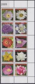 ZNB 1669-1678 Bloemen 2009 Cataloguswaarde 29,00 A-0751