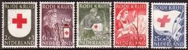 NVPH  607-611 Rode Kruiszegels 1953 Gebruikt  CW 13.00  E-2151