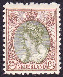 NVPH  70B Wilhelmina bontkraag Postfris Cataloguswaarde 45.00