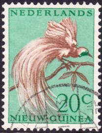 Plaatfout Ned. Nieuw Guinea 29 P1  gestempeld