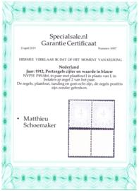 Port P49Abf foutdruk I ipv L bij betalen in Postfris  paar met garantie certificaat