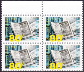 Plaatfout  1772 P  in blok van 4  Postfris