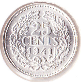 25 cent Zilver 1941 (FDC)