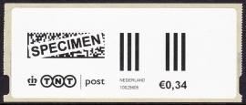 Rolzegel 0,34 cent met SPECIMEN Postfris E-2043