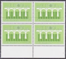 Plaatfout 1308 PM1 Postfris in blok van 4  E-1039