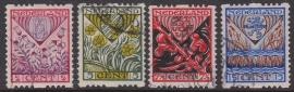 NVPH R78-81 Roltanding Kind 1927 Gebruikt Cataloguswaarde 30.00  E-3905