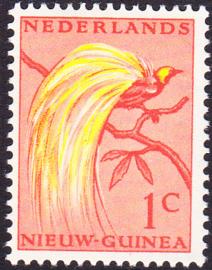Plaatfout Ned. Nieuw Guinea 25 PM1 Postfris