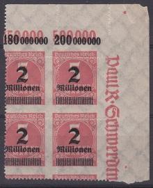 Mi 312b complete mistanding in blok van 4  Postfris Cataloguswaarde: --.-- E-3179