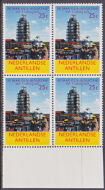 Ned. Antillen plaatfout 356 PM Postfris in blok van 4  E-6712