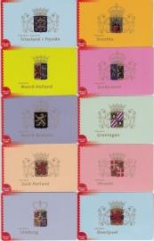 Collect card nr:  7  t/m 18  Complete set 12 provincies