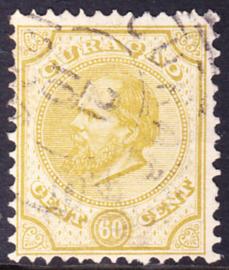 NVPH  10D Koning Willem III Gebruikt Cataloguswaarde: 25.00