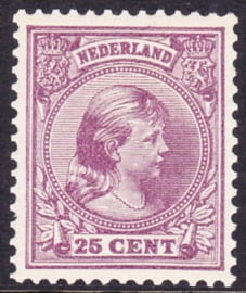 NVPH  42D Prinses Wilhelmina Postfris Cataloguswaarde 825.00